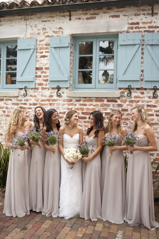 Soft Purple Bridesmaids Dresses