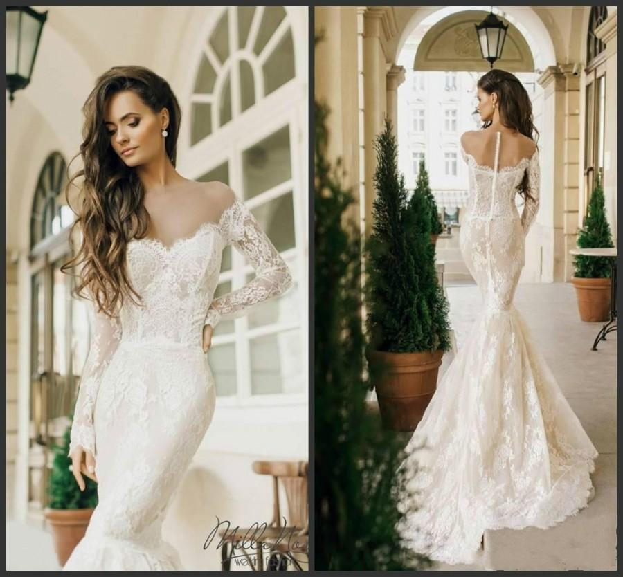 Sexy Milla Nova 2016 Mermaid Wedding Dresses Lace Styles