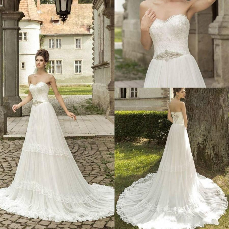 wedding newest lace wedding dresses sweetheart 2016 corset lace up