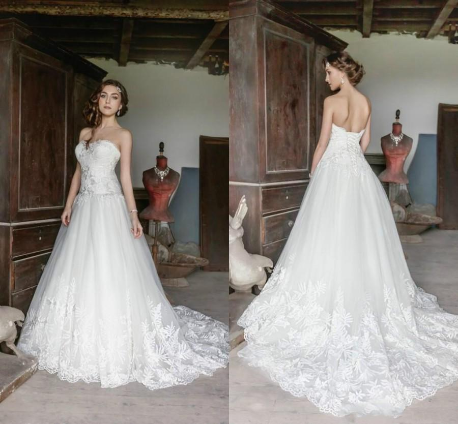 Princess 2016 vintage plus size wedding dresses sleeveless for Vintage wedding dresses plus size