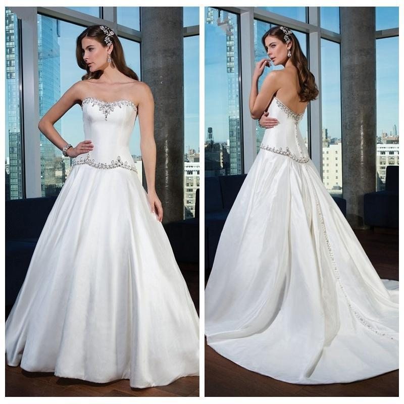 Exquisite sweetheart beaded crystal wedding dresses 2016 for Modern western wedding dresses