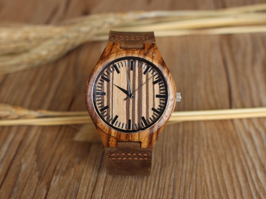 Engraved Wooden Watch Mens Gift Anniversary Gifts For Men Boyfriend Husband Birthday