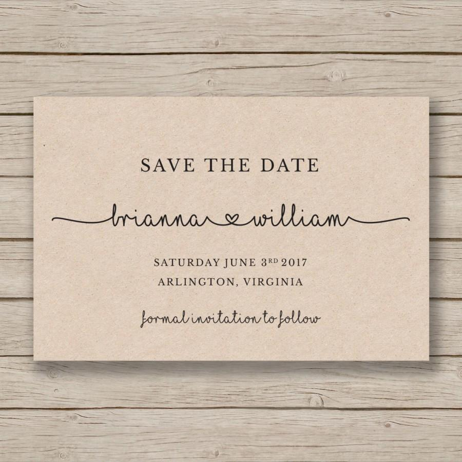 Save The Date Printable Template EDITABLE By YOU In Word DIY