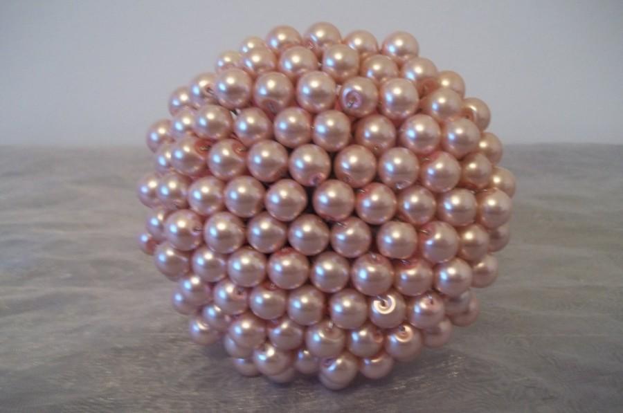 زفاف - Mini Pearl Bouquet. Soft Pink Pearl Bouquet.