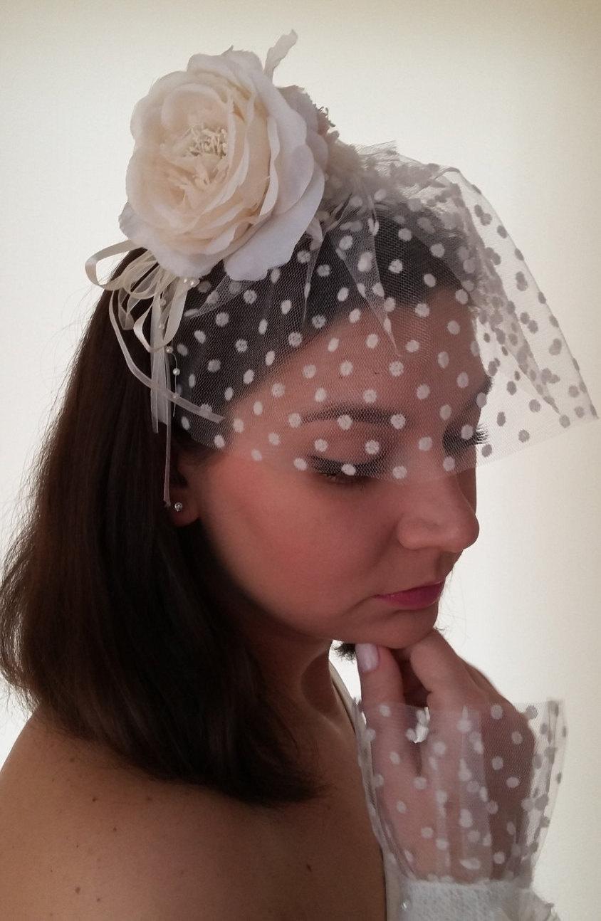Handmade Wedding Hair Accessories Bridal Veil Flower Headband