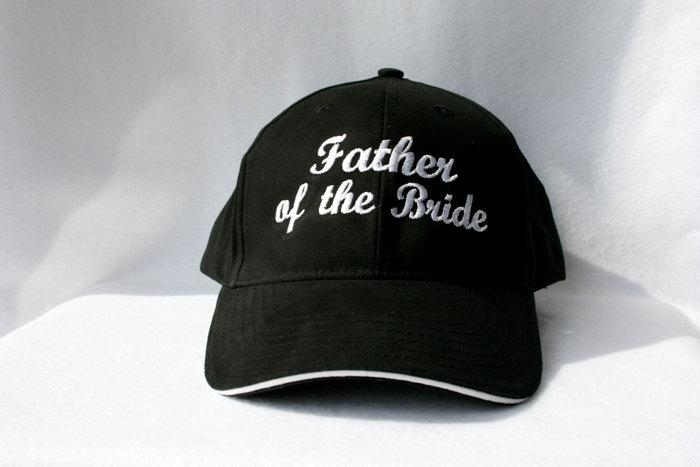 Mariage - WEDDING Hat Father of the Bride Father of the Groom or Bride or Groom Baseball Wedding date Personalized Rehearsal Dinner Favor Embroidery