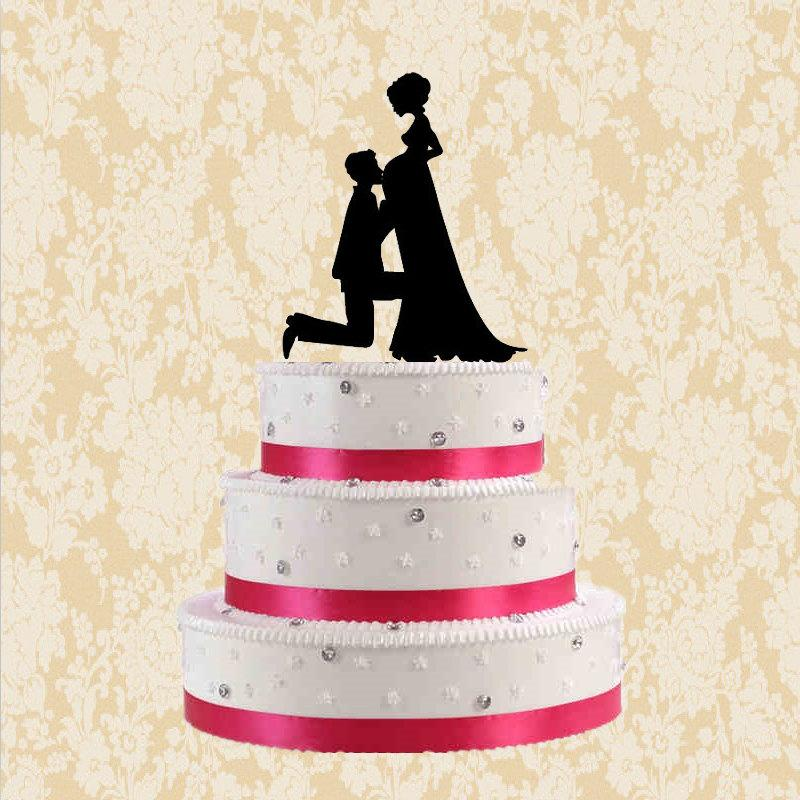 Bride And Groom Cake Topper Wedding Cake Topper Men And Pregnant