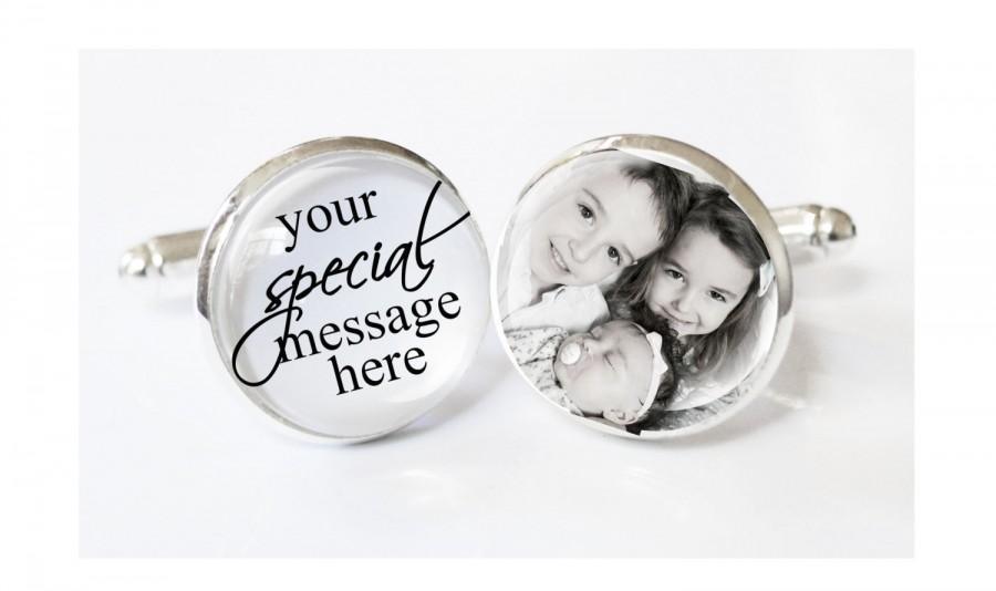 Custom Picture Cufflinks - personalized cufflinks - mens gift - husband gift - boyfriend gift cufflinks cuff links - gifts for dads -