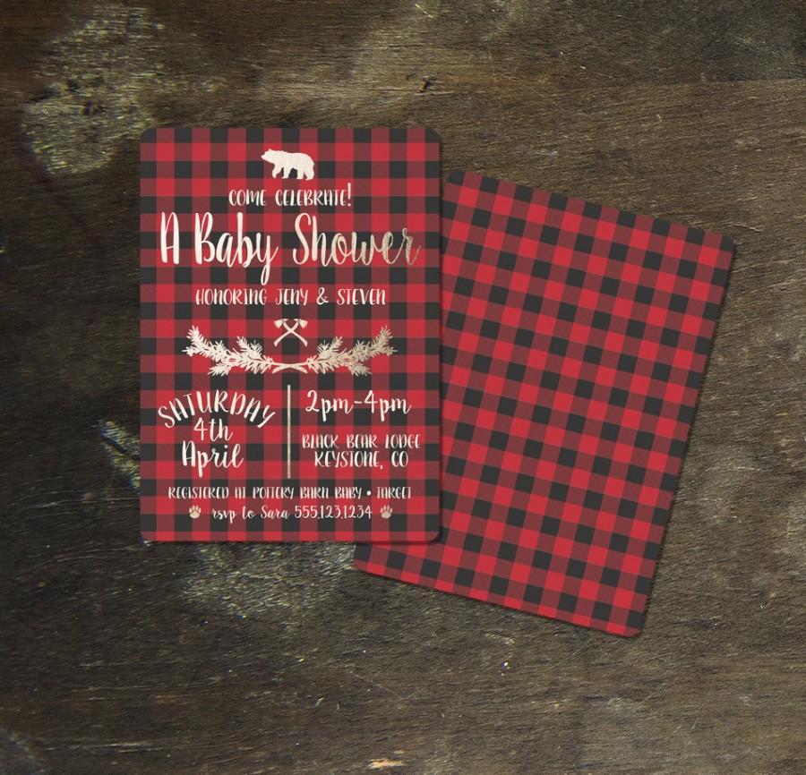 78452bcf3100 DIY Printable Jack   Jill Lumberjack Camp Baby Shower Invitation. 17.  Wedding ...