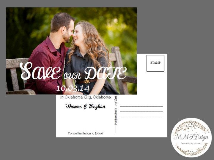 Hochzeit - Printable Save the Date Postcard