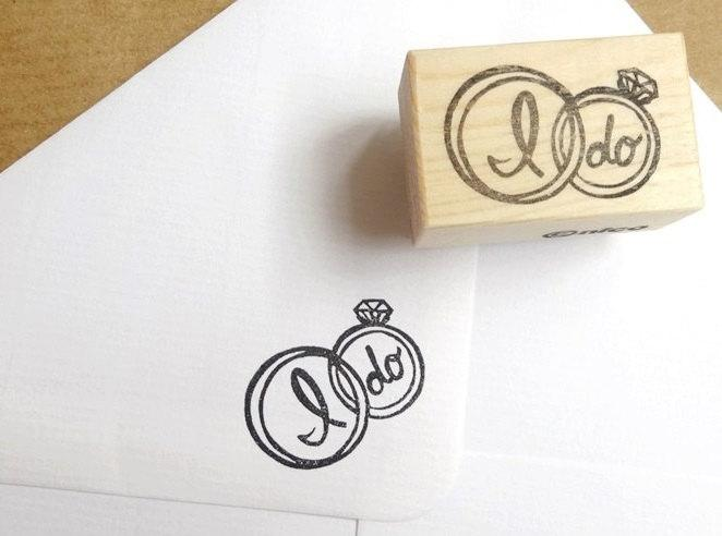 Wedding ring rubber stamp i do wedding invitations for Wedding dress rubber stamp