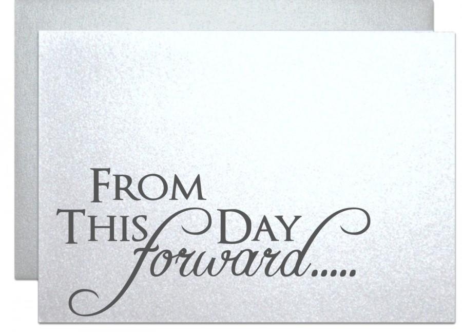 Gifts For Fiance On Wedding Day: Wedding Card For Bride Groom From This Day Forward Elegant