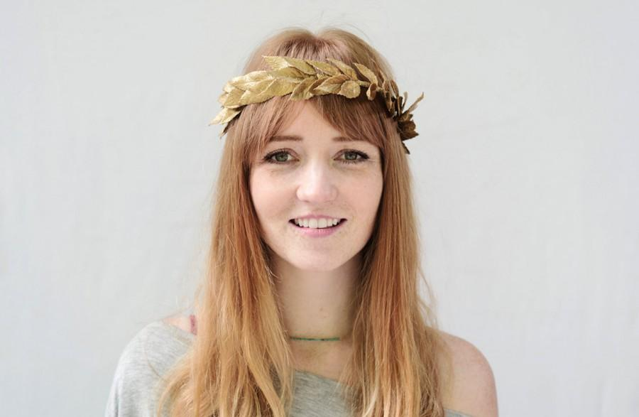 Свадьба - Unisex Gold Leaf Crown - Gold Leaf Headband, Gold Crown, Greek Wedding, Greek Goddess, Grecian Headpiece, Leaf Circlet, Toga, Greek Headband