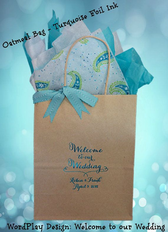 25 Personalized Wedding Welcome Bag Guest Gift Hotel Our Sturdy Bags Hold 5 Lbs Of Goodies