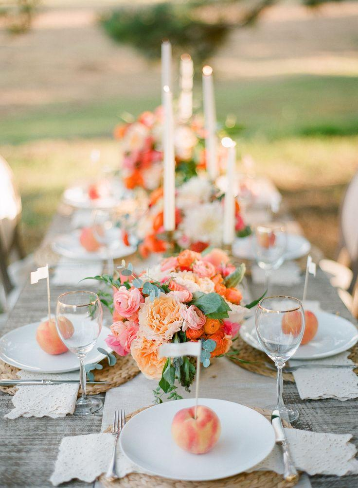 Wedding Theme Peach Wedding Inspiration Full Of Color 2495363