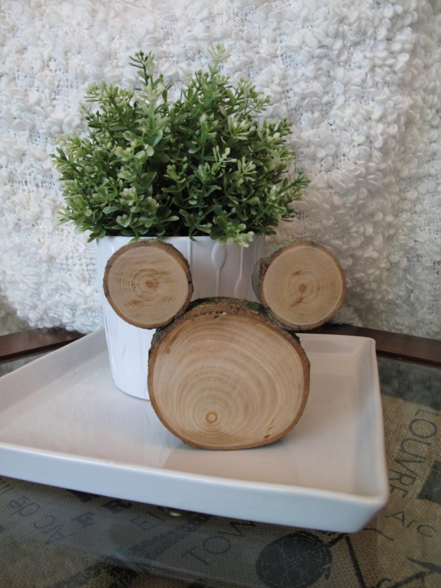 Mariage - Disney Wedding Centerpieces Wooden Mickey Mouse Decorations - Set of 3