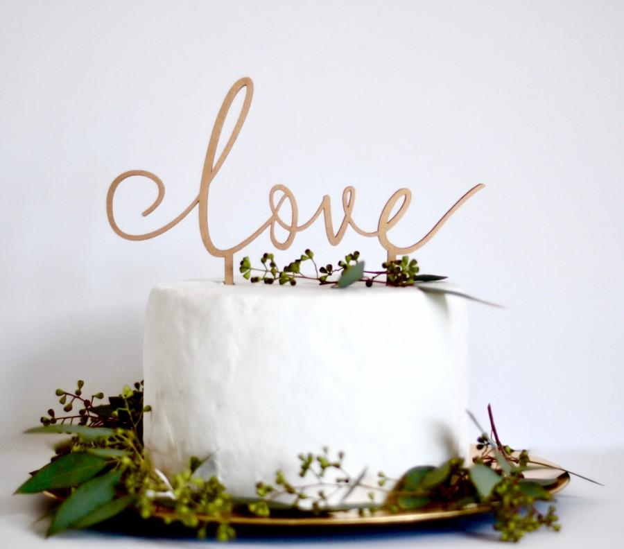 Love Cake Topper Wedding Cake Decoration Wedding Sign Anniversary