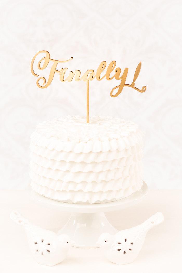 Wedding - Finally Wedding Cake Topper - Soirée Collection