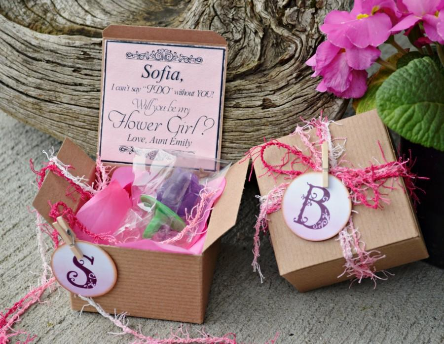 Ring POP Will You Be My Flower Girl PINK Boxed Invite POP The