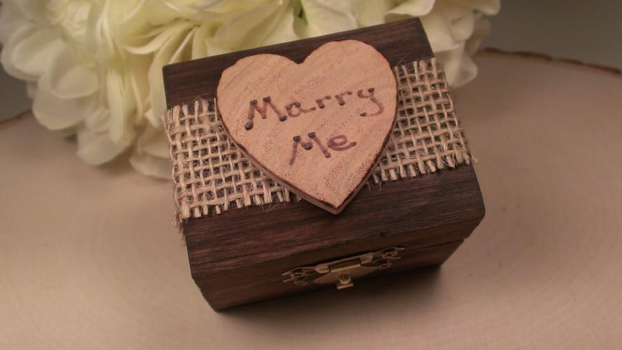 زفاف - rustic engagement  ring box, barn wedding wooden ring box, will you marry me?