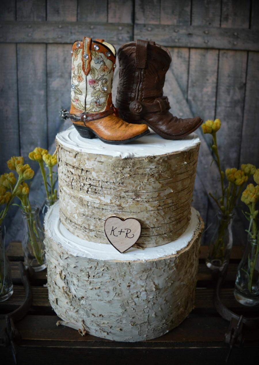 Country wedding cakes pictures - Western Boots Wedding Cake Topper Cowboy Cowgirl Bride Groom Boots Hat Rustic Wedding Decor Personalized Country Mr And Mrs Hunting Horse