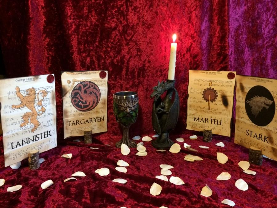 Game Of Thrones Themed Wedding Table Dcor Wedding Table Placement