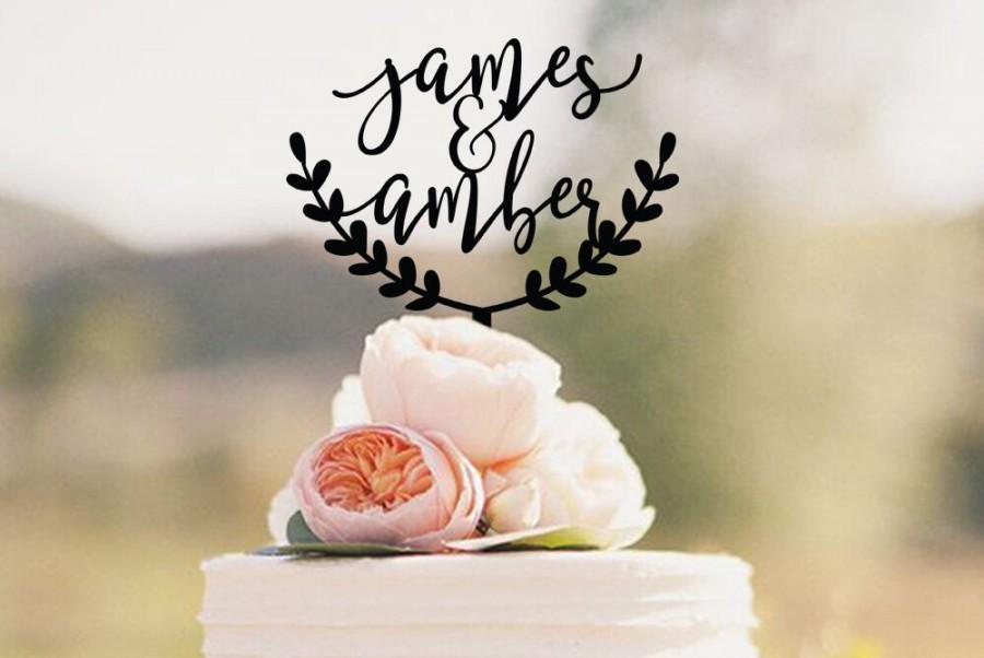 Hochzeit - Personalized Wedding Cake Topper