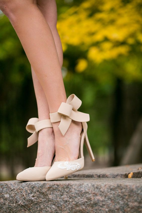 Wedding Shoes, Nude Bridal Shoes, Nude Heels, Wedding Heels ...