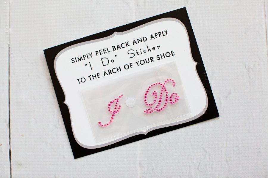 Hochzeit - Pink I Do Stickers for Brides Shoes, Wedding Shoe Sticker, Bridal Details