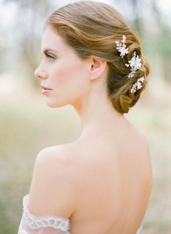 Wedding - BRIAR-ROSE pearl bridal hair pins