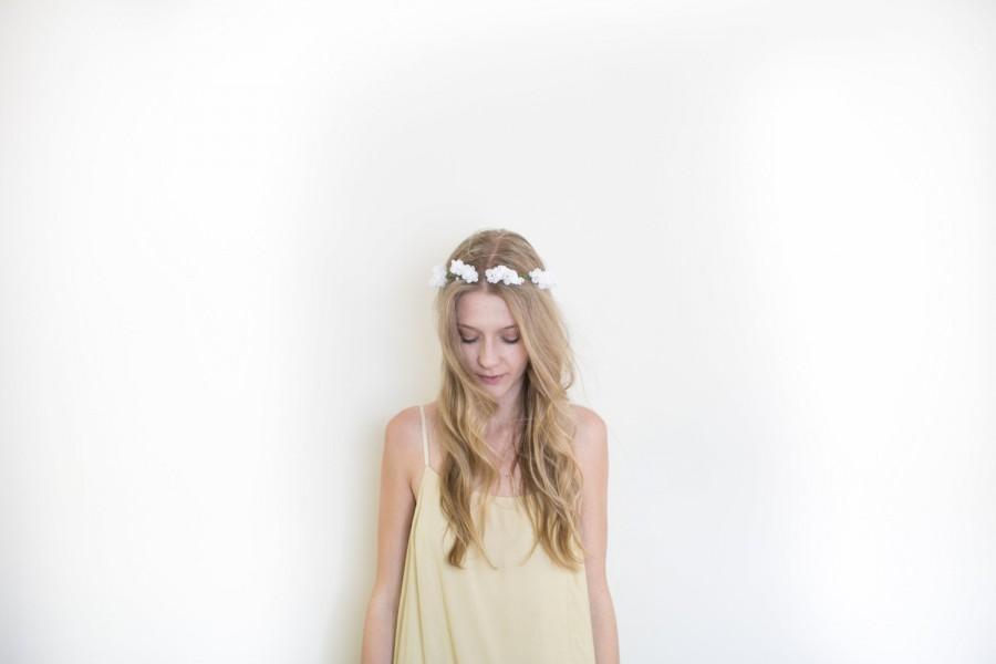 Wedding - LEIGH (white): everyday flower crown