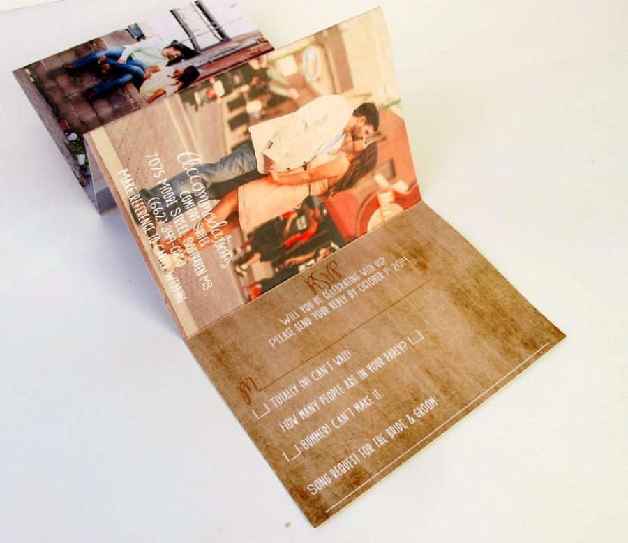Unique Rustic Wedding Invitations - Accordion Fold Invites With ...