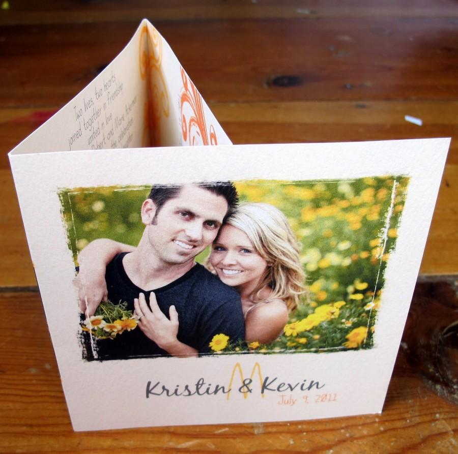Tri Fold Wedding Invitation Includes A Perforated Rsvp Card
