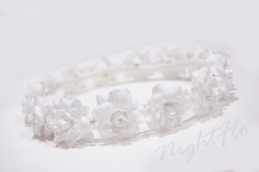 Wedding - White Rose NightFlo (White LED)