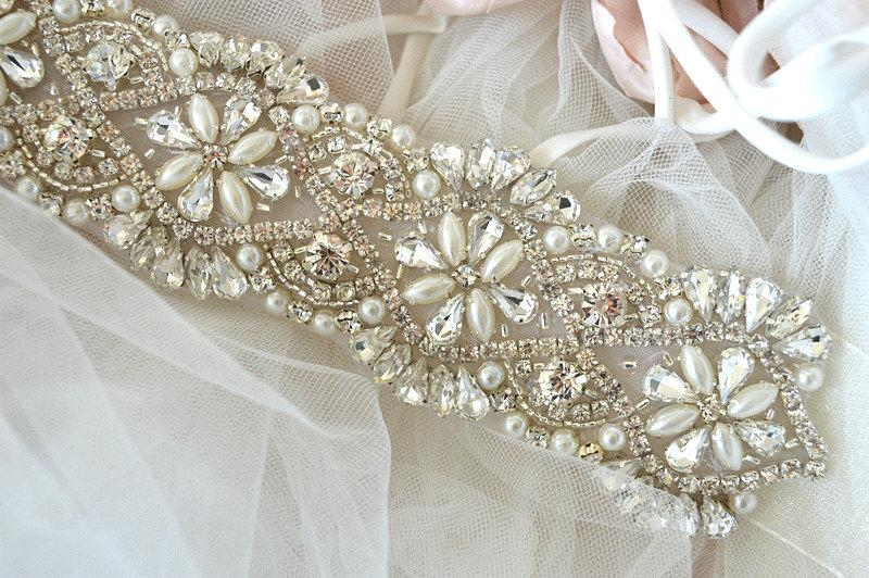 Alexa Sash Crystal Vintage Wedding Bride Sash Belt Glamorous Great