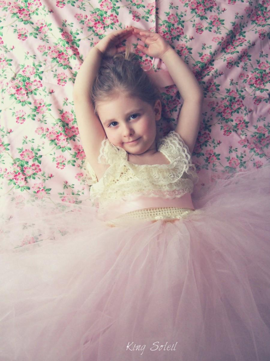 Свадьба - Dahlia Lace and Tulle Flower Girl Dress