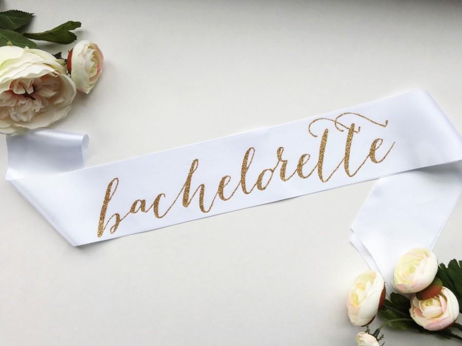 Wedding - Bachelorette party sash - bachelorette sash - Bachelorette Bridal Sash - bride to be sash - bachelorette party accessory