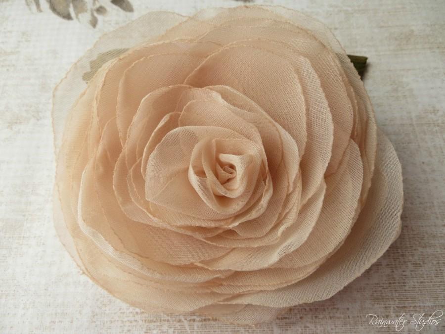 Wedding - Wedding Hair Flower, Nude Blush Rose Hair Flower, Nude Blush Bridal Hair Accessories, Nude Blush Wedding Hair Accessories, Blush Weddings