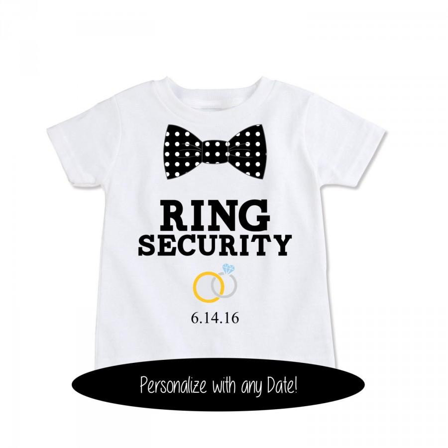 Ring Bearer Gift Security Shirt Outfit Wedding Party Gifts Kids Favors Ringbearer Ex 369 Ob