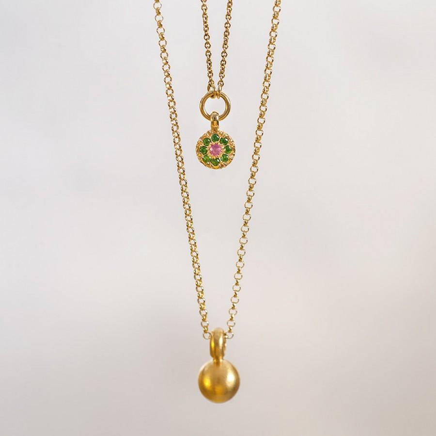 of small diamond francis necklace chain w assisi saint circle yellow pendant medallion gold