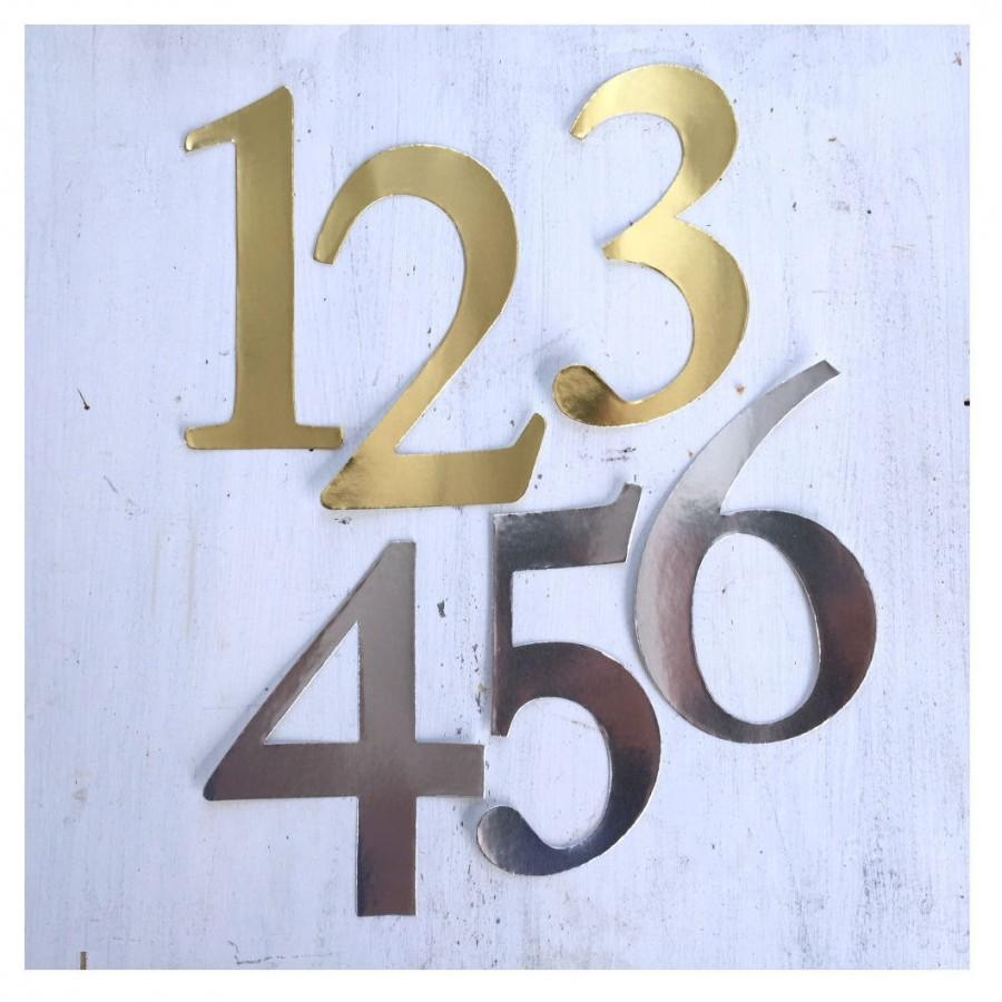 Mariage - Gold or Silver Number Stickers, Wedding Table Numbers, Craft Numbers, DIY Table Number, Wine Bottle Table Numbers, Wedding Sticker, N001