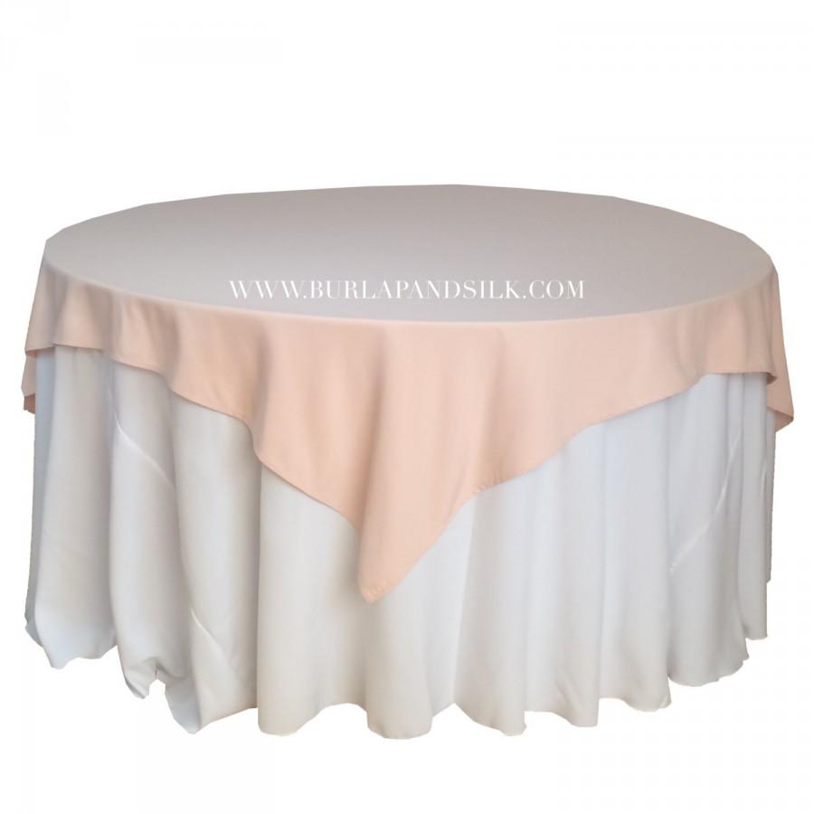 Ordinaire Blush Table Overlays 85 X 85 Inches, Table Overlays For 6 FT Round Tables,  Square Blush Tablecloths