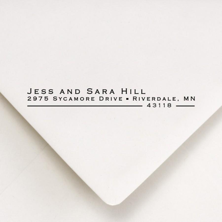 Mariage - Return Address Stamp, Custom Address Stamp, Address Stamp, Wedding Stamp, Self Inking Stamp, Housewarming Gift,  Jess and Sara