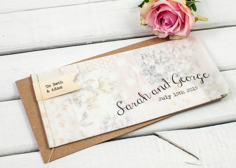 Mariage - Rustic wedding invitation - booklet wedding invitation