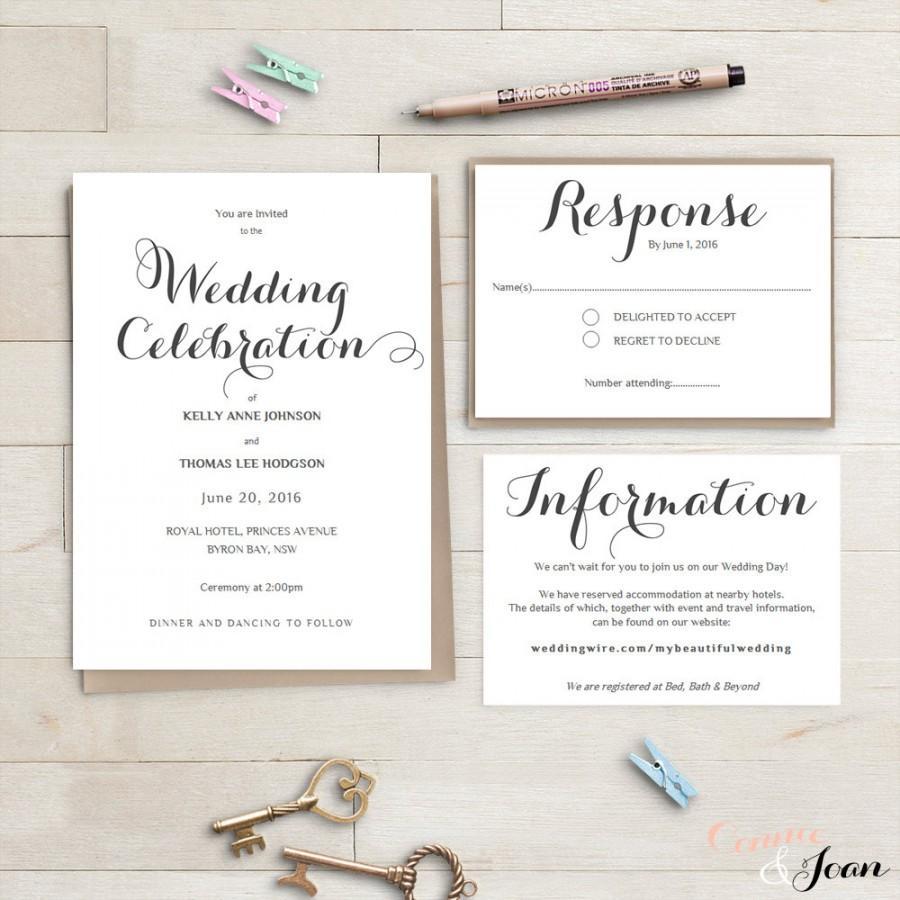 Invitation - Printable Wedding Invitation Suite #2496279 - Weddbook