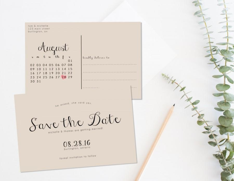 Rustic save the date printable save the date postcard save the rustic save the date printable save the date postcard save the date calendar printable save the date kraft paper save the date pronofoot35fo Gallery