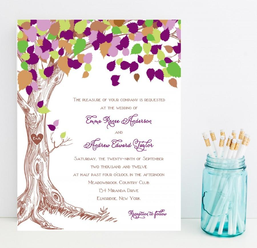 inexpensive wedding invitations purple wedding invitation rustic