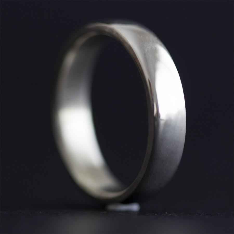 Sterling Silver Ring Wedding Band Mens Comfort Fit Wedding Ring