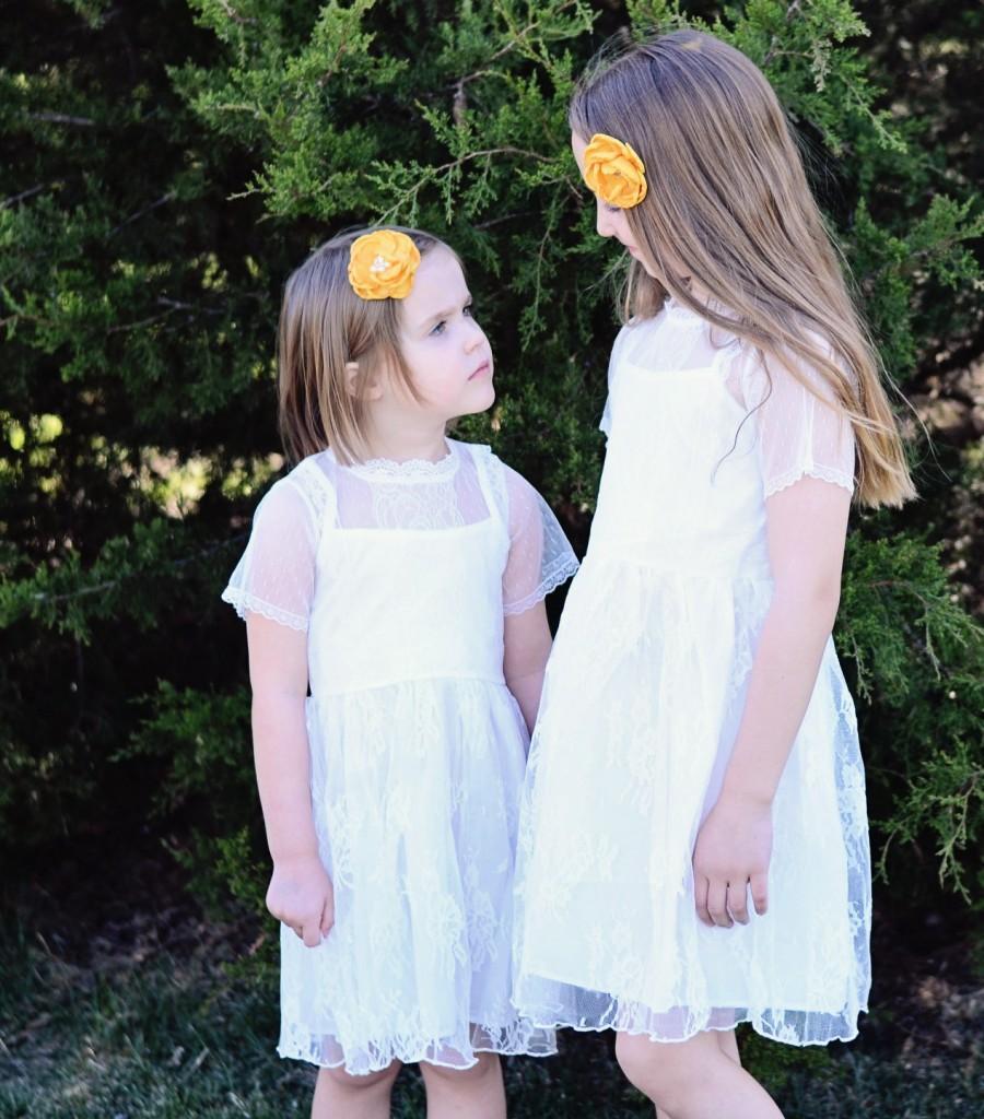 d497349a685 The Millie Rose Flower Girl Dress In White  2496389 - Weddbook