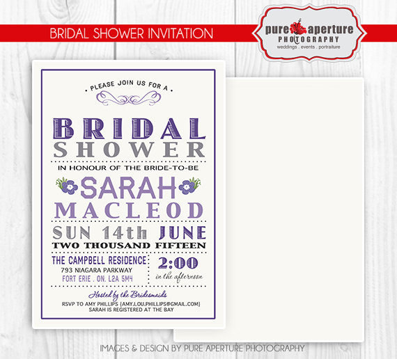 5x7 lavendar purple bridal shower invitation postcard psd printable template 2496501 weddbook. Black Bedroom Furniture Sets. Home Design Ideas